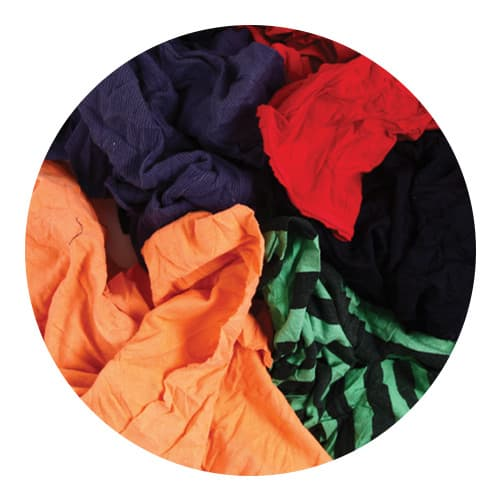 Coloured T-Shirt Rags Close Up