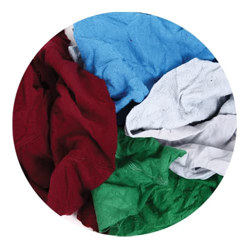 Coloured Sweatshirt Rags Close Up
