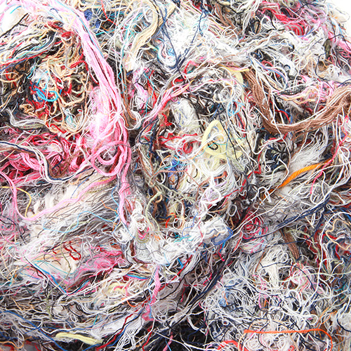 coloured cotton waste