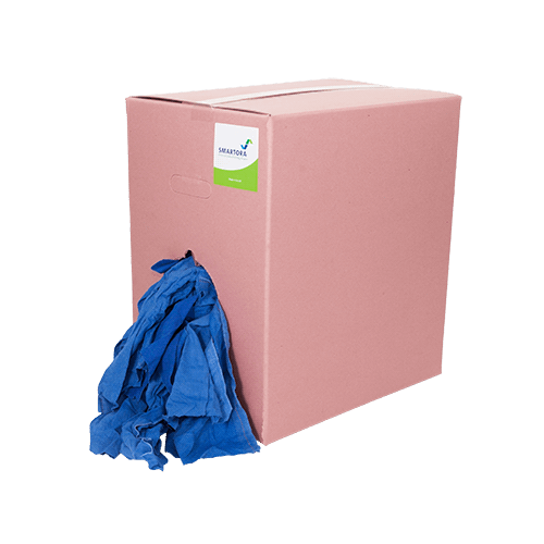 Premium Blue Roller Towel Wipers - Pink Box 10kg