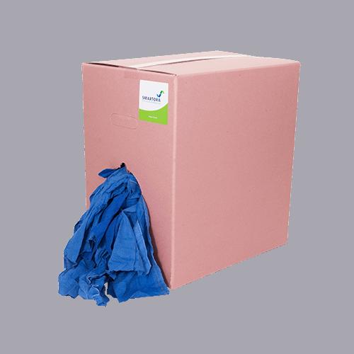 Premium Blue Roller Towel Wipers - Pink Box 10kg