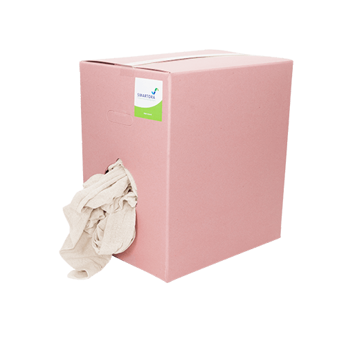 Premium Cut Stockinette Wipers - Pink Box 10kg
