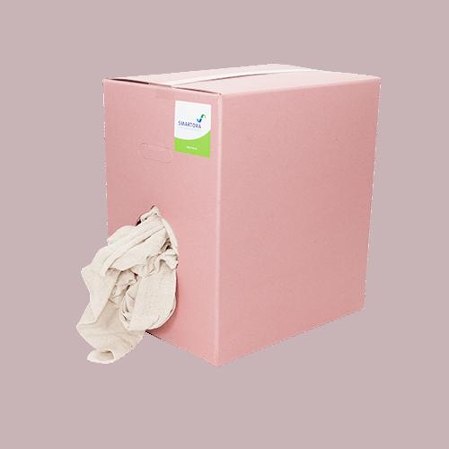Premium Cut Stockinette Wipers - Pink Box 10kg