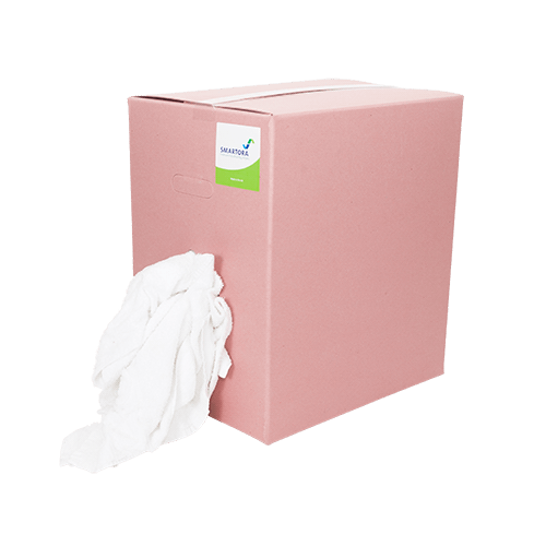 Premium White Towel Wipers - Pink Box 10kg