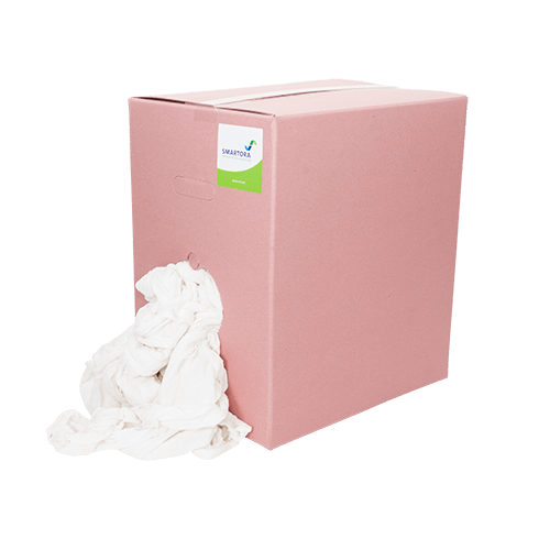Premium White Terry Hosiery WIpers - Pink Box 10kg