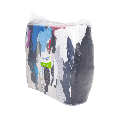 Coloured T-Shirt Rags 5/10kg - Bag
